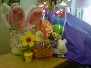 Easter baskets and gifts
